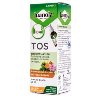Juanola Tos Tratamiento de las Irritaciones de Garganta Spray Bucal Sabor Miel Mentolada 20 ml