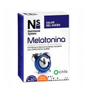 NS Melatonina 1,95 mg Complemento Alimenticio 30 Comprimidos Masticables