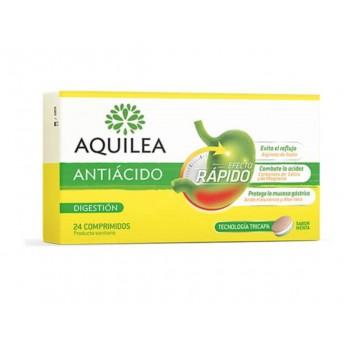 Aquilea AntiácidoEfecto Rápido 24 Comprimidos Tricapa Sabor Menta