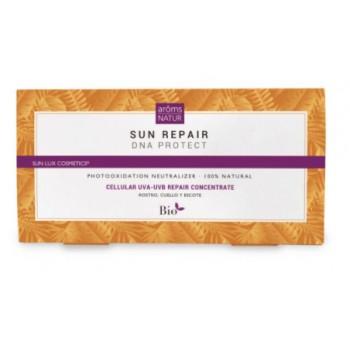 Aroms Natur Sun repair 7 ampollas Dna protect rostro, cuello y escote (Protege uva-uvb concentrado reparador)