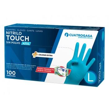 Guantes nitrilo Talla L Touch azul (100 unidades)