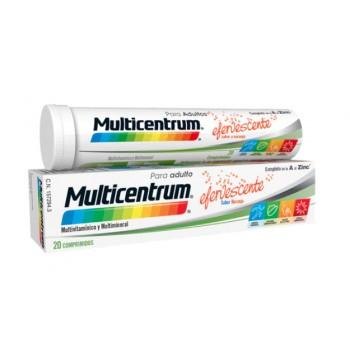 Multicentrum Efervescente Multivitamínico y Minerales de la A al zinc Sabor Naranja 20 Comprimidos Efervescentes
