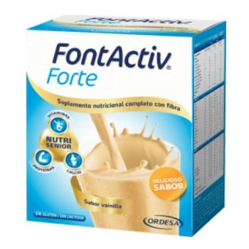 Fontactiv Forte Sabor vainilla Con Fibra 420g 14 Sobres de 30g