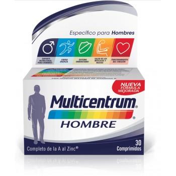 Multicentrum Hombre Multivitamínico y Multimineral de la A al Zinc 30 Comprimidos