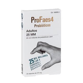 ProFaes4 Adultos Probióticos 25 MM 30 Cápsulas de 375 mg