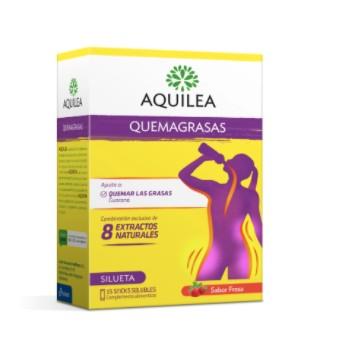 Aquilea Quemagrasas 8 Extractos Naturales 15 Sticks Solubles Sabor Fresa