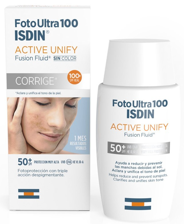 Isdin Foto Ultra 100 Active Unify Fusion Fluid Corrige SPF50+ 50 ml